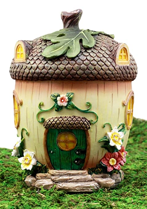 Amazon ebros gift enchanted fairy garden miniature squirrel ebros gift enchanted fairy garden miniature squirrel acorn cottage house figurine 65quoth do it solutioingenieria Images