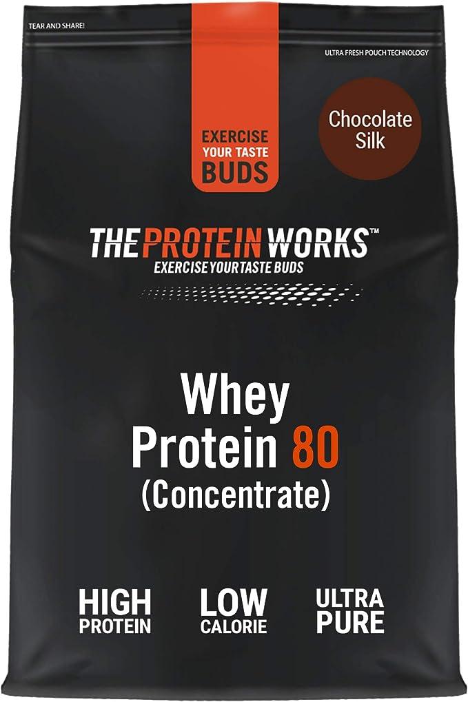 Whey Protein 80 | 82% De Proteína | Batido Alto En Proteínas & Bajo En Azúcares | THE PROTEIN WORKS | Chocolate Suave | 2kg