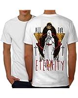 Tout Pour Éternité Crâne Éternité La vie Men S-5XL T-shirt le dos   Wellcoda