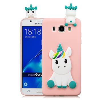 Funda para Samsung J7 2016 Carcasa Rose Silicona 3D Cartoon ...