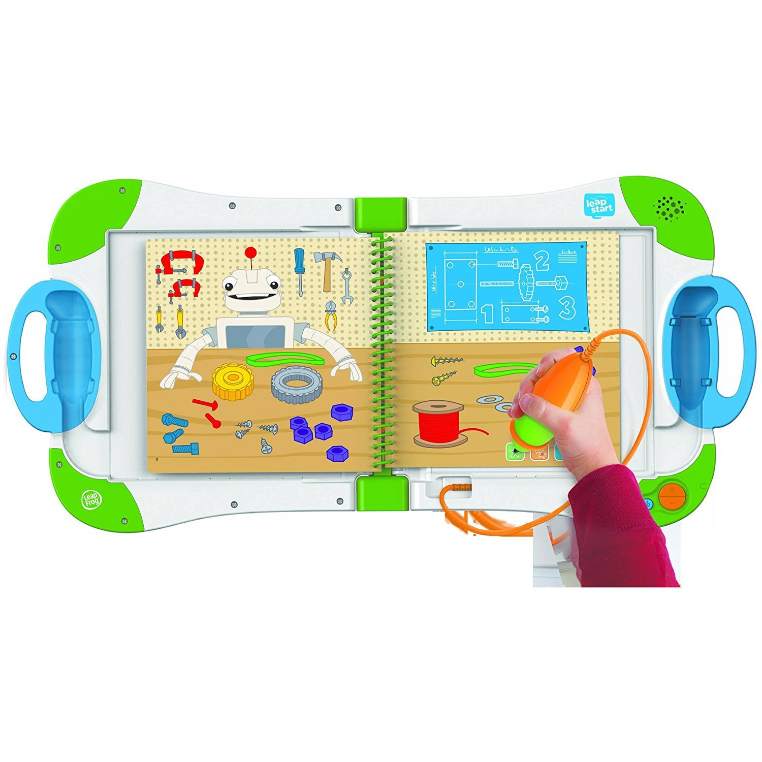 LeapFrog LeapStart Preschool, Pre-Kindergarten Interactive Learning System For Kids Level 2 Ages 2-4 With Junior Activity Books: STEM, Math, Read & Write & First Day School Fun Activity Bundle by LeapFrog (Image #2)