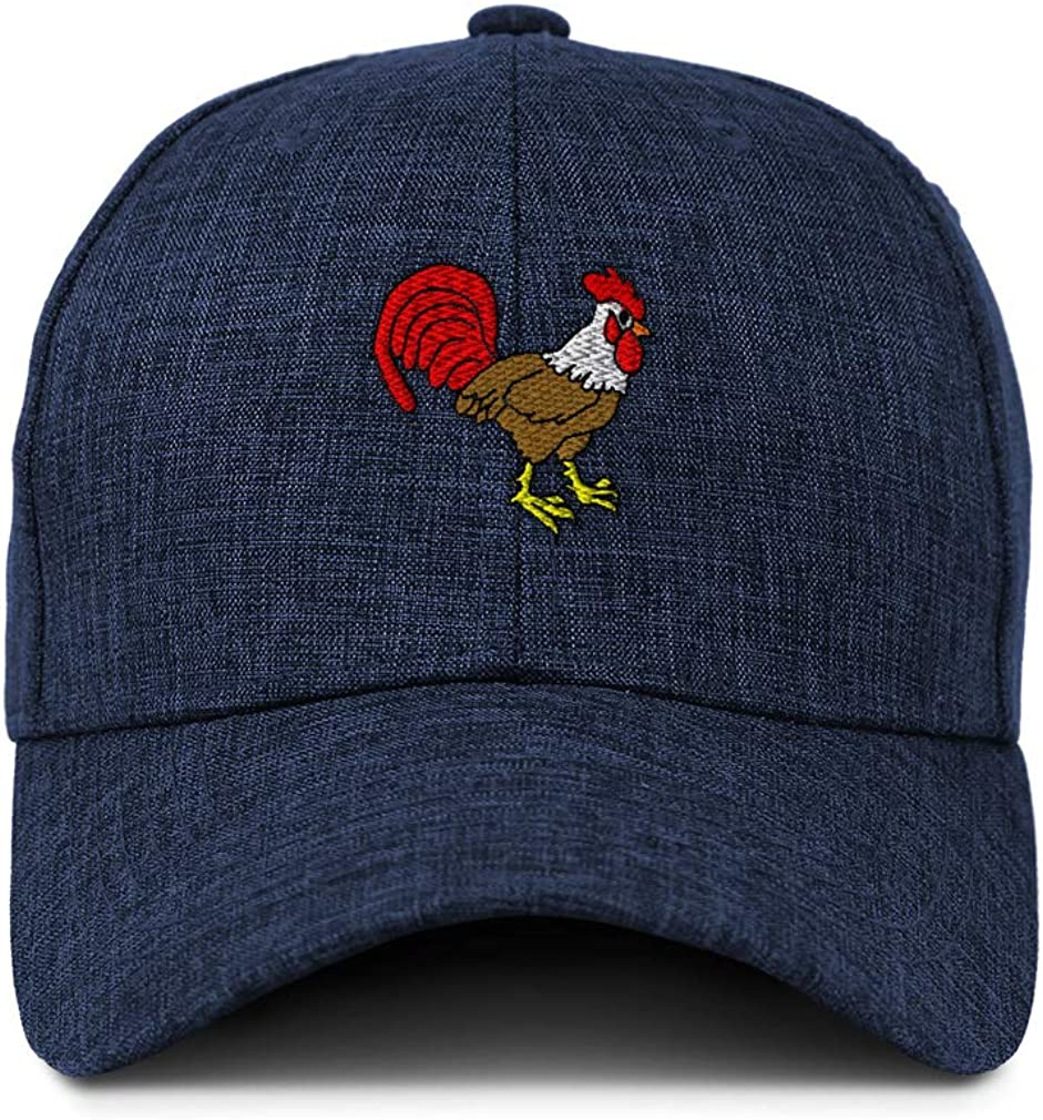 Custom Baseball Cap Rooster Sideview Embroidery Casual Hats for Men /& Women