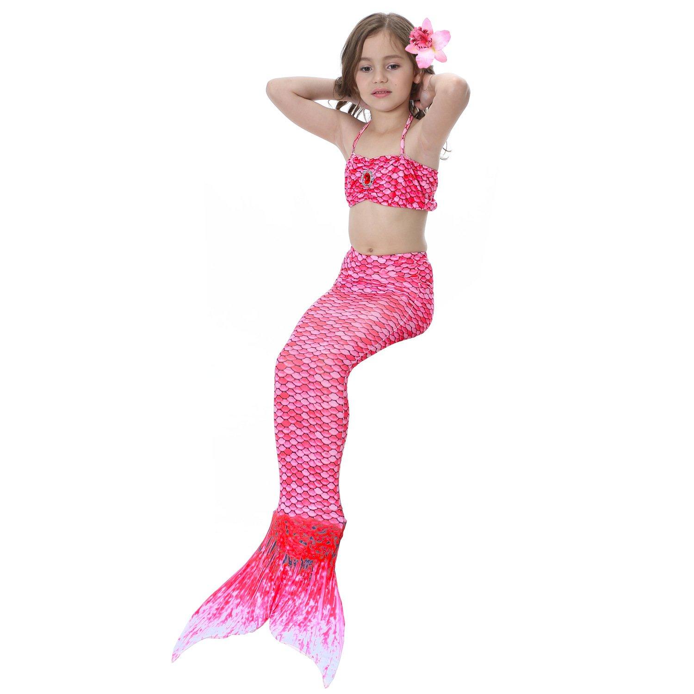 Lee Little Angel 2018 Material Girl Mermaid Badeanzug Set Dreiteiliges Set