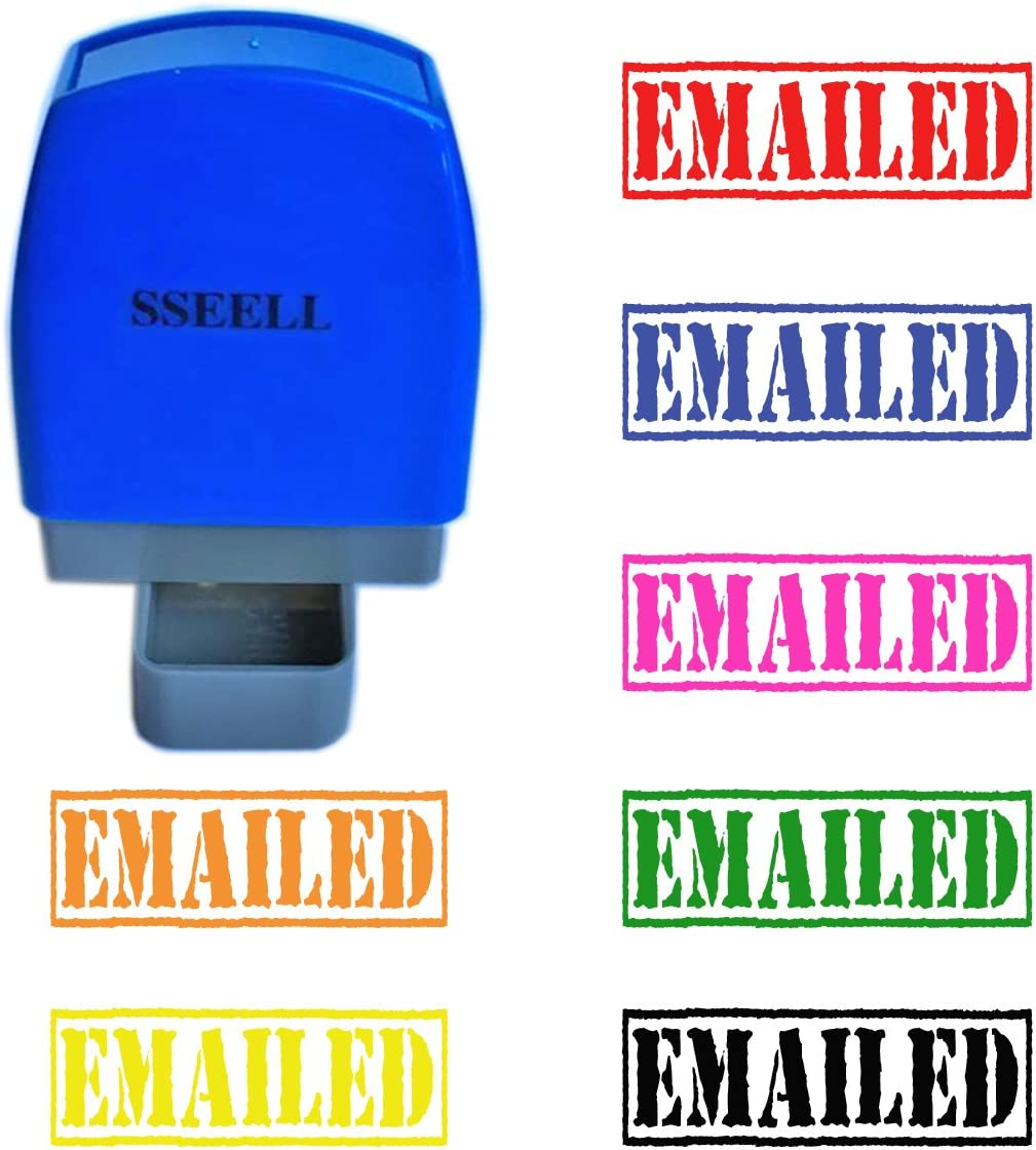 SSEELL EMAILED Self Inking Rubber Stamp Self-Inking RE-inkable Pre-Inked Office Stationary Flash Stamps Black Ink Color