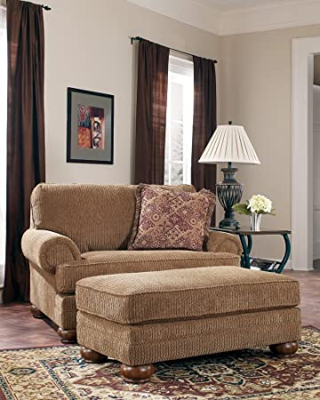 Amazon.com: Brown Oversized Living Room Chair and a Half: Kitchen ...