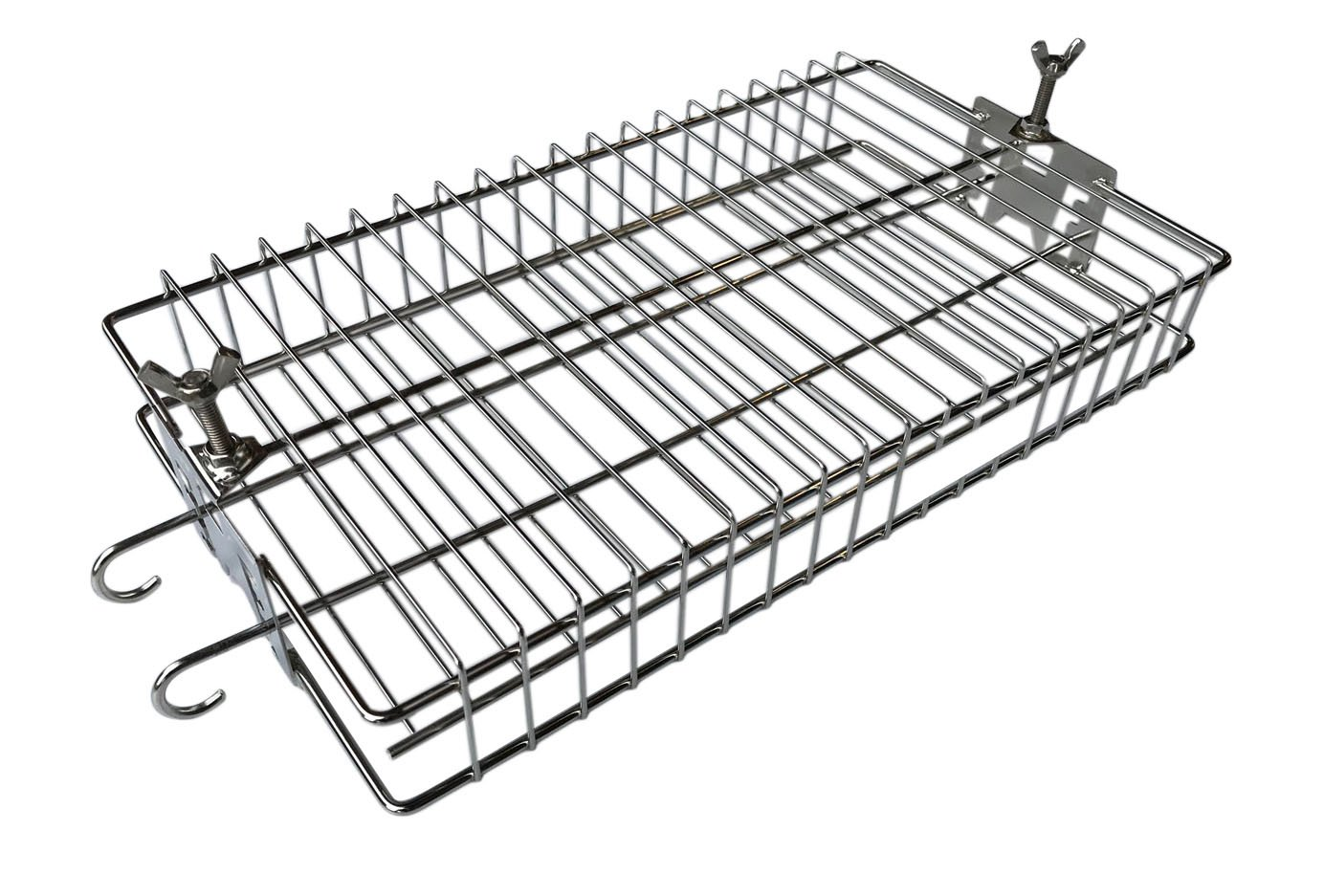 BBQ Rotisserie Basket Cage in Stainless Steel Sunshine BBQs Ltd