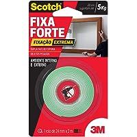 Fita Dupla Face 3M Scotch Fixa Forte Fixação Extrema - 24 mm x 2 m