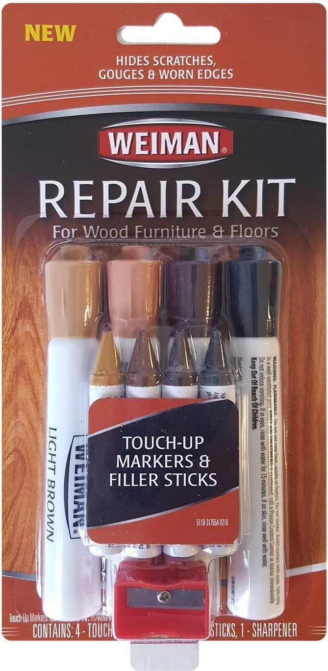 Weiman Repair Kit (4 filler sticks & 4 touch up markers) 2-Pack
