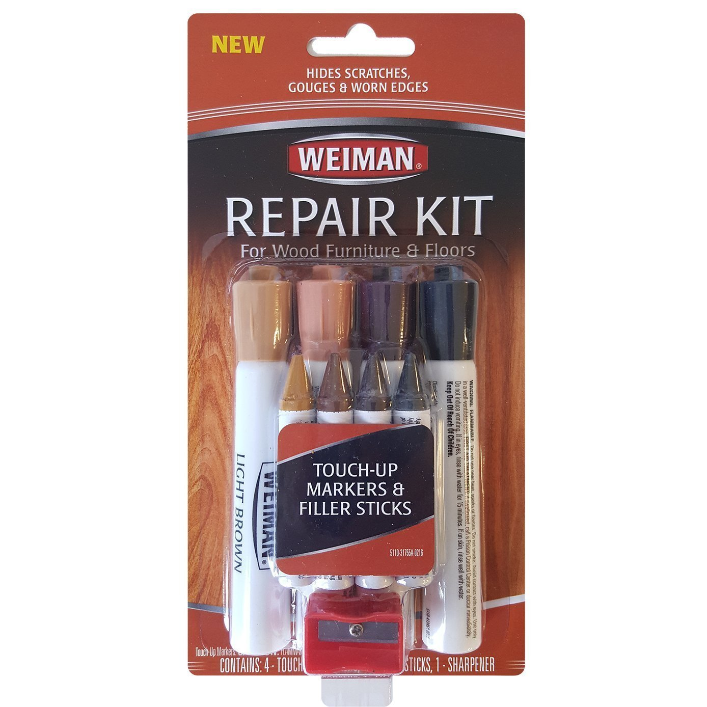 Weiman Repair Kit (4 filler sticks & 4 touch up markers) 2-Pack by Weiman