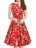 Amazon Price History for:Women's Vintage 1950s Sleeveless Dress with Boat Neck Inspired Rockabilly Swing Dress