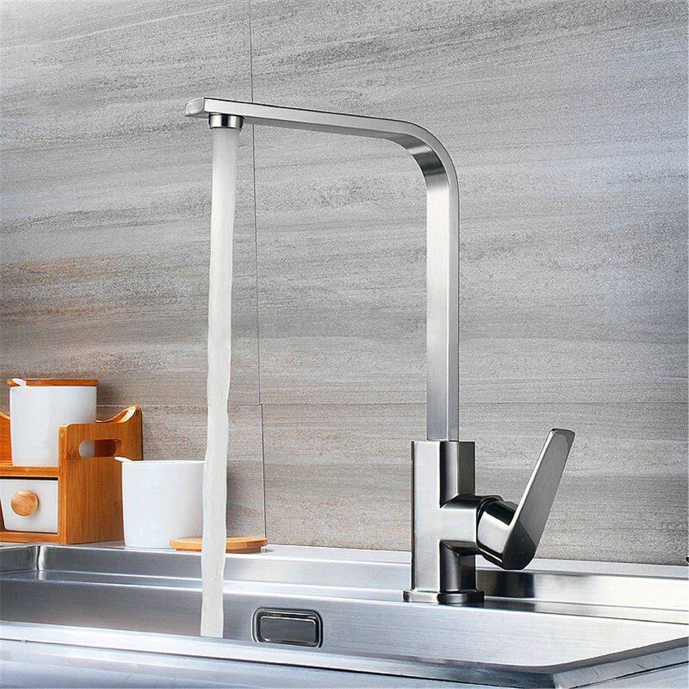 NewBorn Faucet Wasserhähne Warmes und Kaltes Wasser Größe Qualität gebürstet Leitungswasser voll Kupfer Spüle Cold-Hot-Cold-Water Geschirrspülen Waschtischmischer