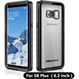 Waterproof case for Samsung S8 Plus, UBeesize Transparent Shockproof Underwater Cover Full Body Protective Drop Resistant Heavy Duty Case for Samsung Galaxy S8 Plus