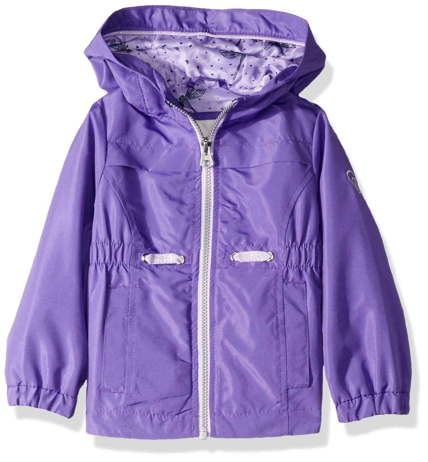 Jessica Simpson Girls' Toddler Lightweight Anorak Jacket with Jersey Lining, Ultra Violet, 2T