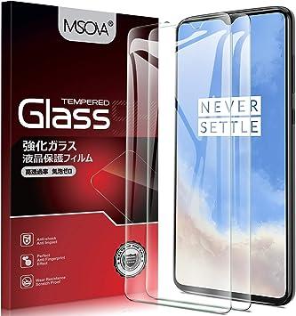 MSOVA para Oneplus 7T Protector de Pantalla, Cristal Templado Alta Definición 9H Dureza Protector Pantalla para Oneplus 7T Transparente(2 Piezas): Amazon.es: Electrónica