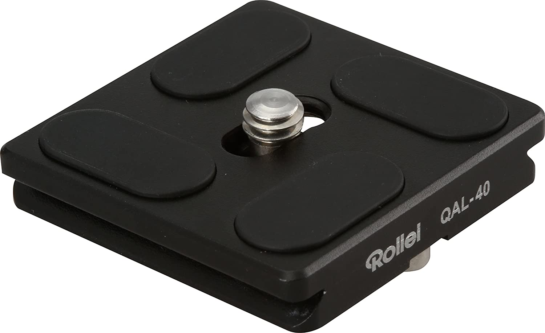 Rollei Schnellwechselplatte I 2 St/ück I Metallic Gr/ün I Arca-Swiss kompatibel I Passend zu Lion Rock 20