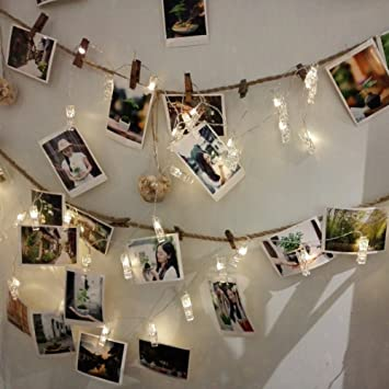 finest selection da500 f0c71 Babali Photo Clip LED String Lights 21FT 40 Photo Pegs ...