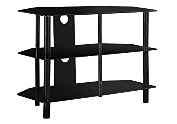 Amazon Com Monarch Specialties Black Metal Tv Stand With Tempered