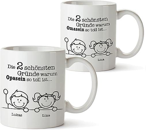Casa Vivente 2er Tassen Set Tasse Gute Gründe Oma und Gute