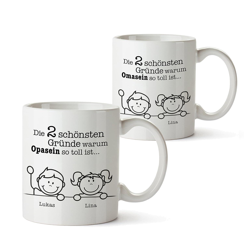 2er Tassen Set - Tasse Gute Gründe Oma und Gute Gründe Opa ...