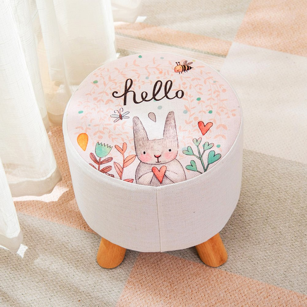 Creative Fashion Cartoon Little Bench Household Stool Door Change Shoe Bench Children's Stool Living Room Coffee Table Small Stool,B