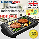 JAMIE OLIVER Electric BBQ Barbecue Grill, 2018 Non Stick Table Top Grill with Flat Plate, Teppanyaki Electric Party Grill Machine - 1400W