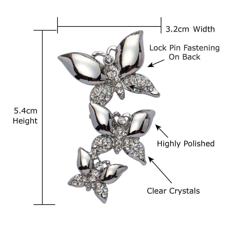 Jodie Rose Clear Crystal Heart Pin Brooch cYZ9y