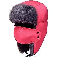 e83f4c377b50d Odema Unisex Women Men Trooper Hat Ear Flap Bomber Hat Winter Fur Hunting  Hat
