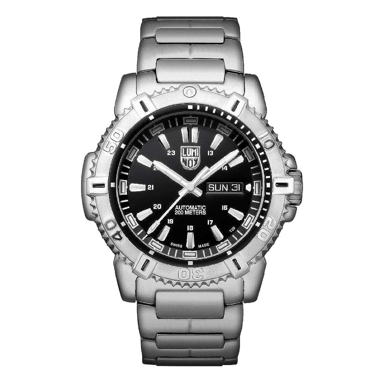 Luminox 6502。NVメンズSea Modern Mariner Automatic 6500ブラックダイヤルスチールブレスレットDive Watch B07316TPVN