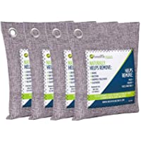 Amazon Price History for:Breathe Green Bamboo Charcoal Air Purifying Bag (4-Pack), Activated Charcoal Odor Absorber, Natural Air Freshener Removes Odors and Moisture, Odor Eliminator for Home, Pets, Car, Closet, Basement, RV