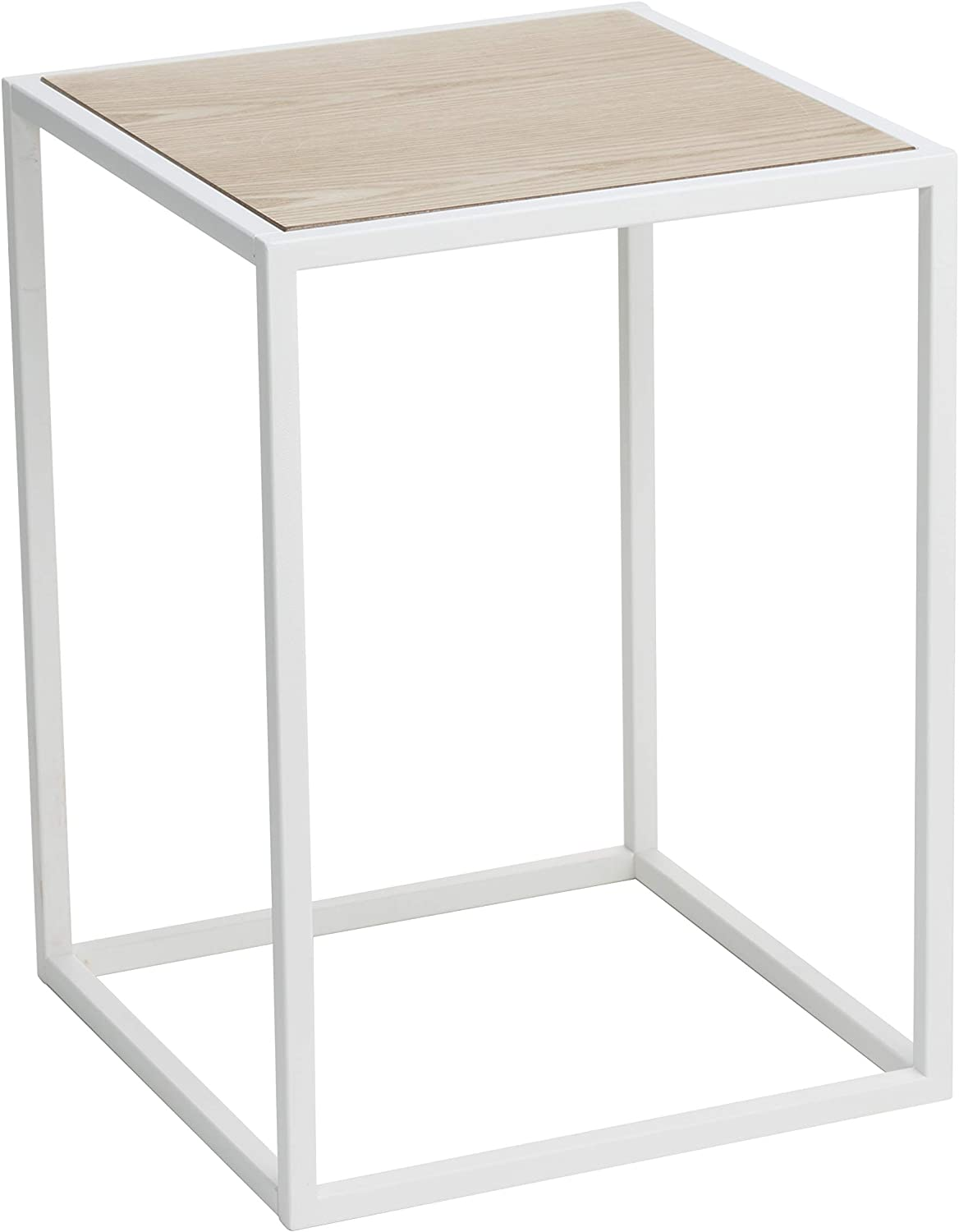 YAMAZAKI home Tower Square Coffee Table WH Space saving, One Size, White