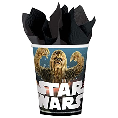 Amscan 8 Star Wars Classic Birthday Party 9 Ounce Paper Cups: Health & Personal Care