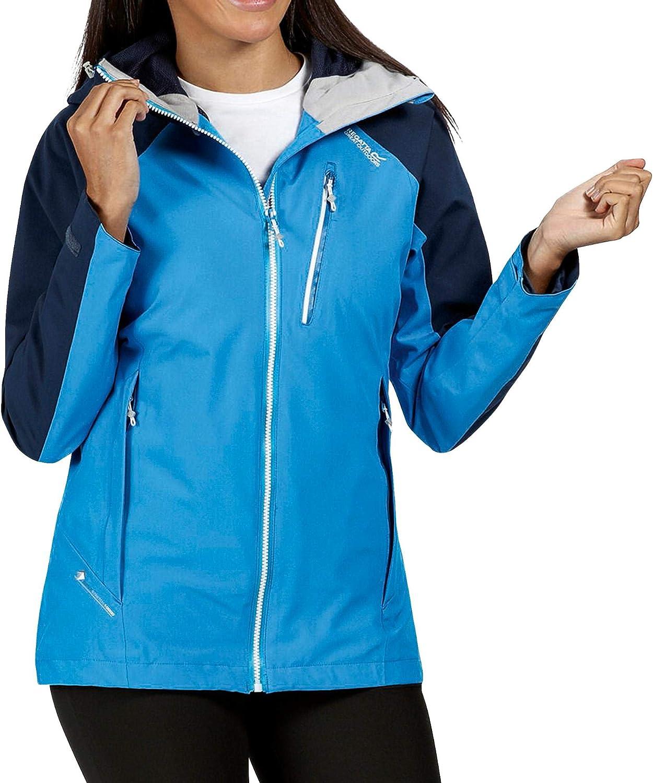 Impermeable Y Transpirable con Capucha Sellada para Senderismo de Rendimiento Activo Jackets Waterproof Shell Regatta Chaqueta de Mujer Birchdale