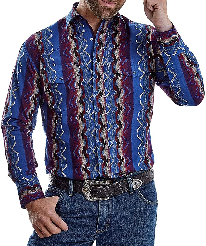Wrangler Apparel Checotah Camiseta Azteca para Hombre