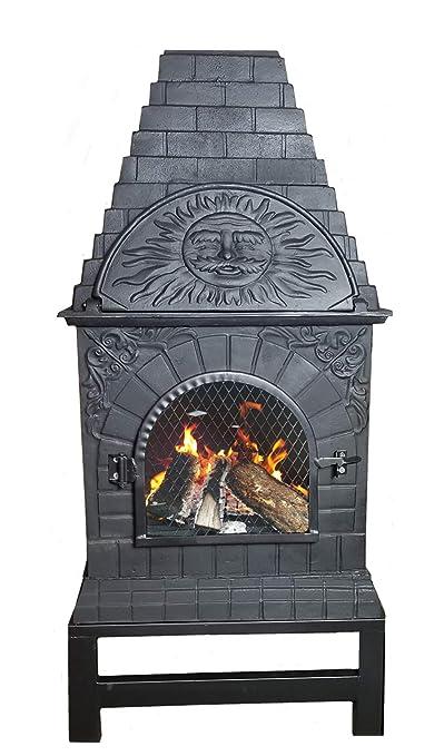 Amazon.com: The Blue Rooster Co. chimenea de hierro fundido ...