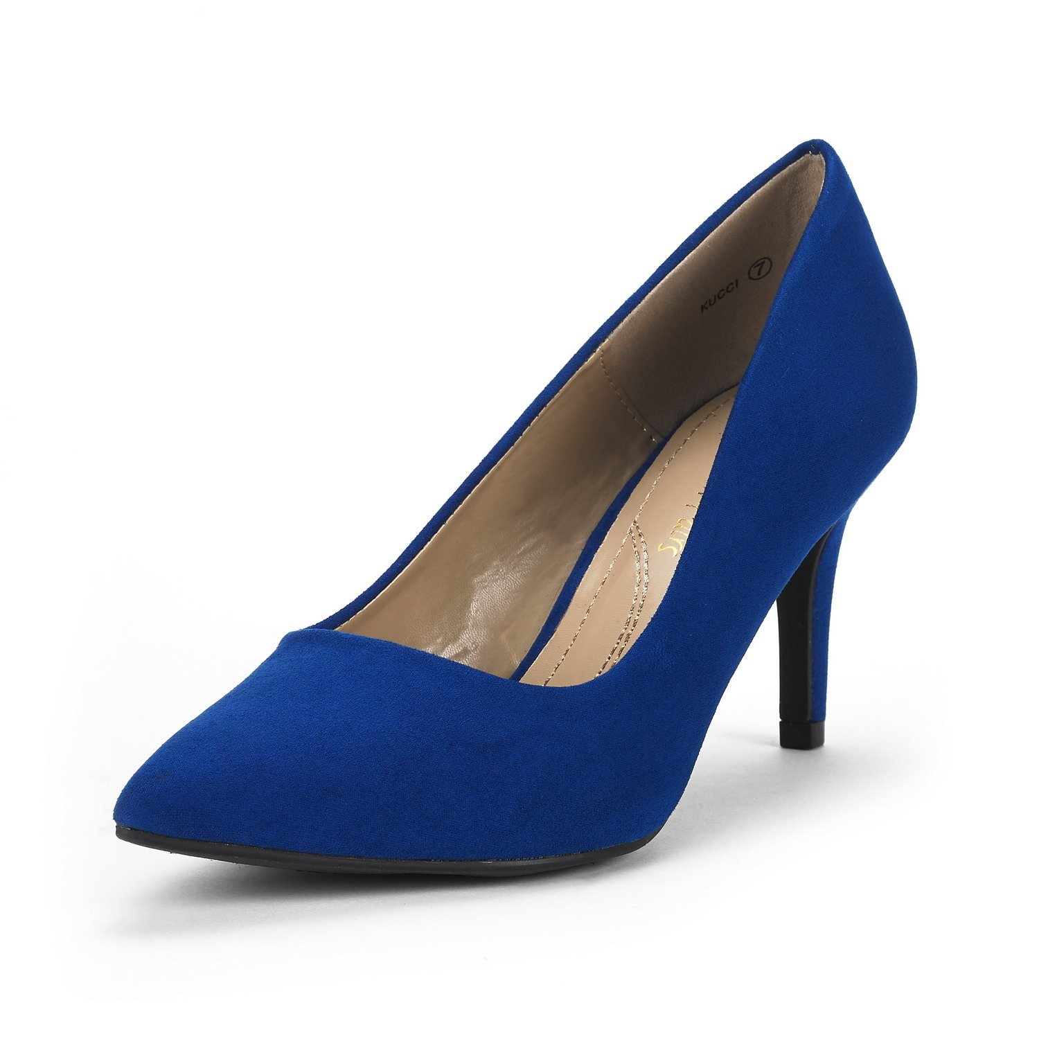 DREAM PAIRS Women's KUCCI Royal Blue Classic Fashion Pointed Toe High Heel Dress Pumps Shoes Size 8 M US