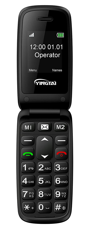 YINGTAI T15 2G Teléfono Móvil con Tapa para Personas Mayores con Teclas Grandes, Fácil de Usar Celular para Ancianos con SOS Botones: Amazon.es: Electrónica