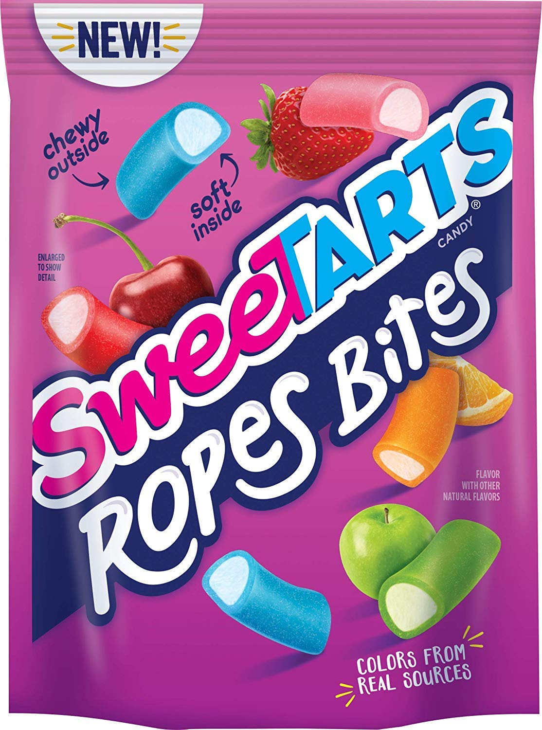 SweeTARTS Rope Bites, 8 Ounce (2 pack) by SweeTARTS