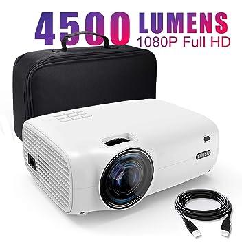 Proyector, 4500 Lúmenes Proyector Full HD Soporta 1920 x 1080P ...