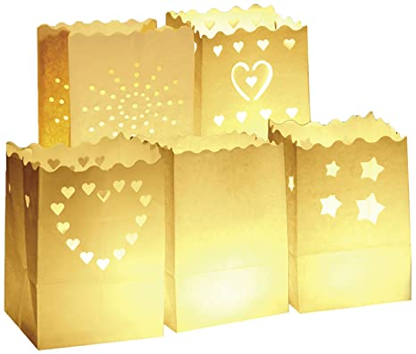 Wenko 8551100 Luminaria - Bolsas decorativas para velas (10 ...