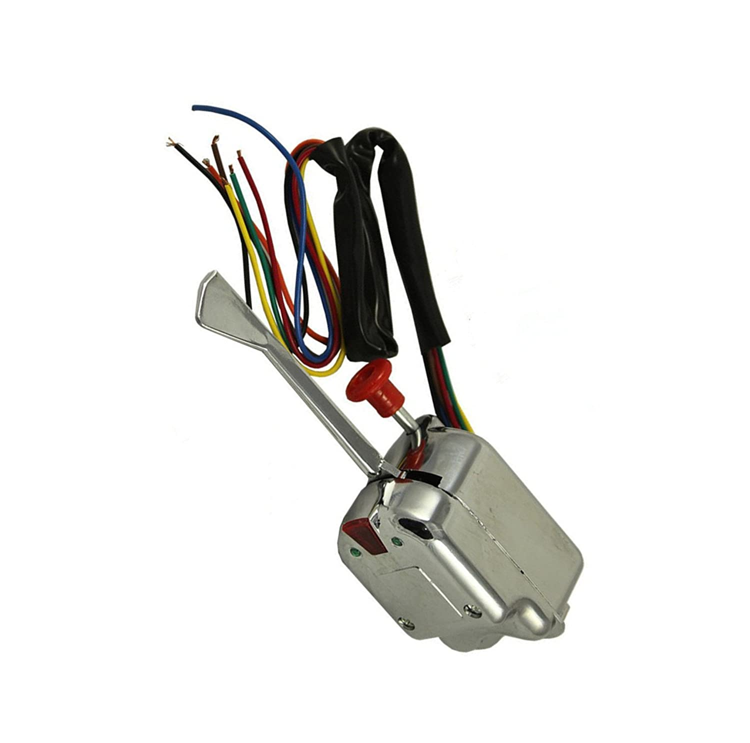Wilk New Universal Street Hot Rod Chrome Turn Signal Switch For Heavy Duty Buick Ford Gm 12v