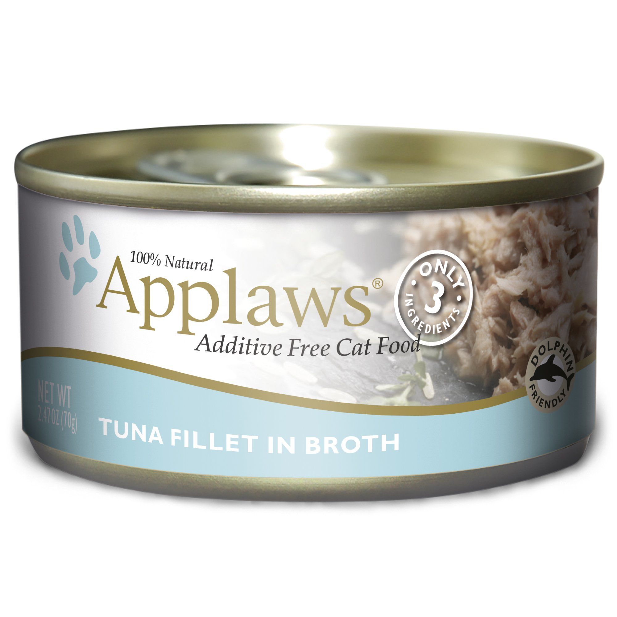 Applaws Cat Tin 2.4Oz Tuna Fillet - 24 Pack by Applaws