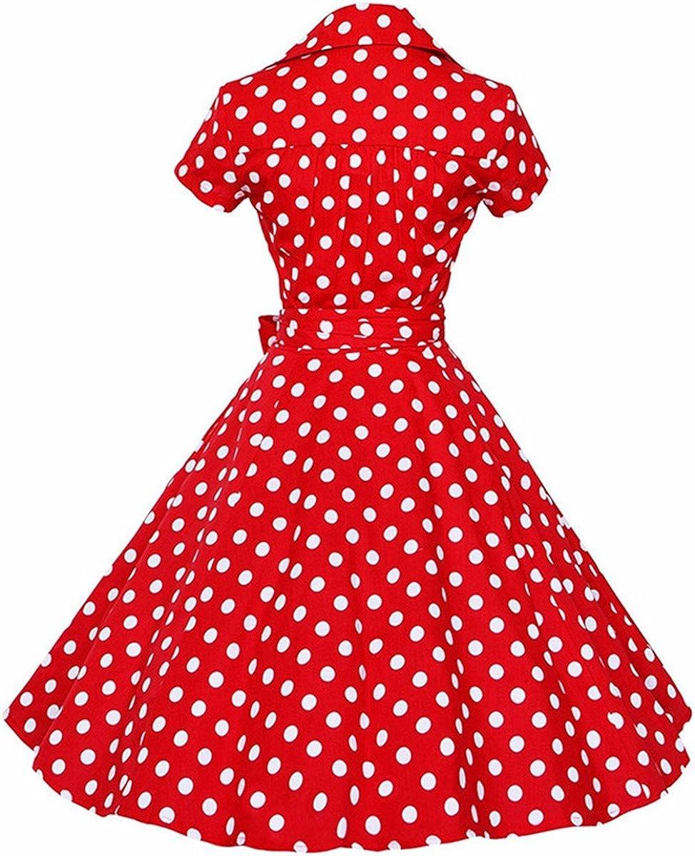 Size L Vintage early 60\u2019s navy /& white polkadot stretch polyester knit skirt A-Line mid length
