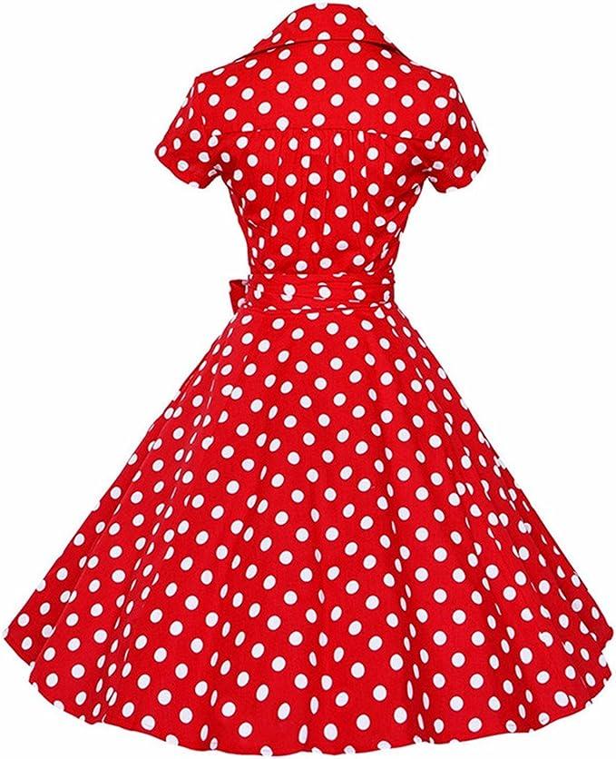 Swinging Skirt Used Rockabilly Vintage Skirt Polka Dots Polka Dot Navy and White Dots