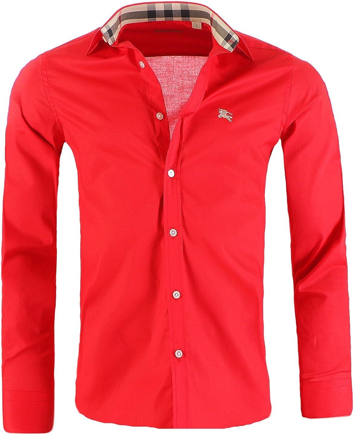 BURBERRY Camisa para hombre BRIT Slim Fit, Outletware