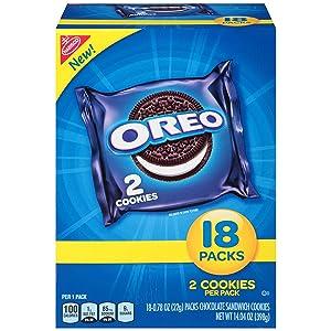 OREO Chocolate Sandwich Cookies, 4 Boxes of 18 Snack Packs (72 Total Packs)