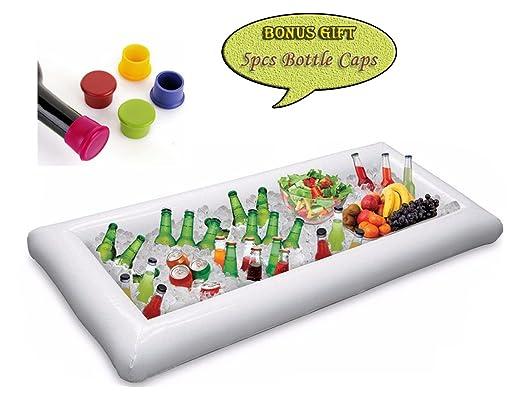 Grande color blanco hinchable Servicio Bar Buffet Cooler con ...