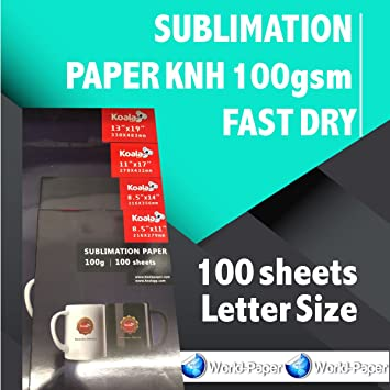 Amazon com: SUBLIMATION PAPER KNH 100gsm FAST DRY 8 5
