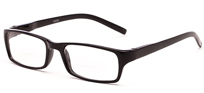 bifocal glasses oan1  Readerscom The Vancouver Bifocal +100 Black Unisex Rectangle Reading  Glasses