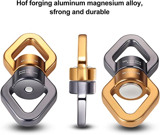 Amazon.com: feiyen Swing giratorio con 2 mosquetones 30 kN ...