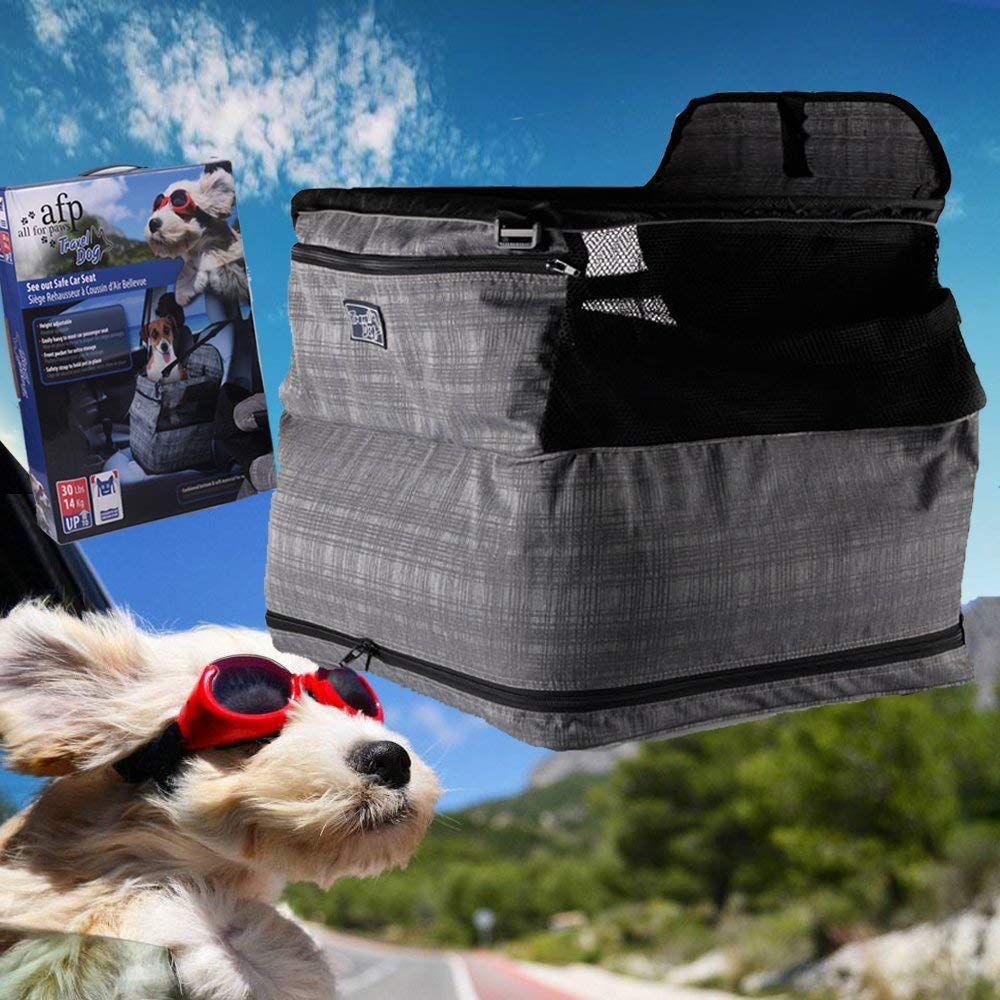 ALL FOR PAWS PET Air-Cushion Deluxe See Out Safe Car Seat Automotive Travel Carrier For Dog Cats upto 30lbs Inflatable Waterproof by ALL FOR PAWS